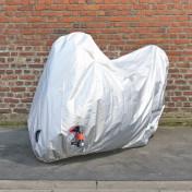 HOUSSE/BACHE DE PROTECTION SCOOT EN POLYESTER 70 DENIERS (ELASTIQUES + SANGLE + OEILLETS) (188x102x115cm)