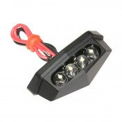 AUXILIARY LIGHTS - FOR LICENCE PLATE - LEDS - BLACK MAT -REPLAY-