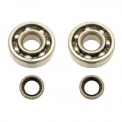 BEARING FOR CRANKSHAFT+SEALS FOR MOPED P2R FOR MBK 51, 41, 40, 88, CLUB (KIT RSM 6302 QR STEEL)