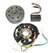 IGNITION FOR MODED KRD ANALOG WITH EXTERNAL ROTOR FOR PEUGEOT FOX (BELGIAN MODEL WITH BLACK CDI UNIT)