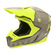 CASQUE CROSS ADULTE MT SYNCHRONY SPEC TITANE/JAUNE FLUO S