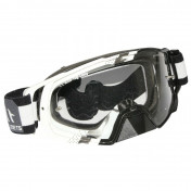 MASQUE/LUNETTES CROSS MT MX EVO BLANC (ECRAN TRANSPARENT ANTI-BUEE + TEAR OFF READY)