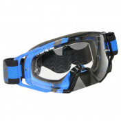 MASQUE/LUNETTES CROSS MT MX EVO BLEU (ECRAN TRANSPARENT ANTI-BUEE + FIXATION TEAR OFF)