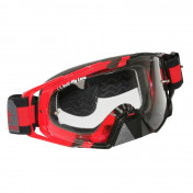 MASQUE/LUNETTES CROSS MT MX EVO ROUGE (ECRAN TRANSPARENT ANTI-BUEE + FIXATION TEAR OFF)