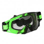 MASQUE/LUNETTES CROSS MT MX EVO VERT FLUO (ECRAN TRANSPARENT ANTI-BUEE + FIXATION TEAR OFF)