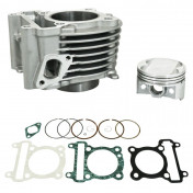 CYLINDER FOR MAXISCOOTER POLINI ALU FOR YAMAHA 125 CYGNUS 1998>2006/MBK 125 FLAME 1998>2006 (Ø 59 mm) (166.0114)