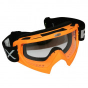 MASQUE/LUNETTES CROSS ADX MX ORANGE FLUO ECRAN TRANSPARENT ANTI-RAYURES