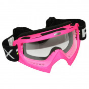 MOTOCROSS GOGGLES ADX MX PINK FLUO CLEAR VISOR ANTI-SCRATCH
