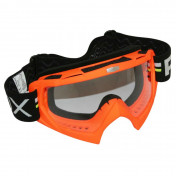 MOTOCROSS GOGGLES ADX MX RED FLUO CLEAR VISOR ANTI-SCRATCH