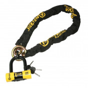MOTORCYCLE ANTITHEFT- CHAIN LOCK AUVRAY XTREM LASSO 1.20M LINK Ø 13,5mm WITH U-LOCK (SRA FULL APPROVED)