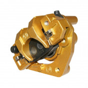 BRAKE CALIPER (FRONT) FOR BAOTIAN 50 BT49QT, BT50QT/SCOOTER 50 CHINOIS/PEUGEOT 50 V CLIC -GOLDEN- (SUPPLIED WITH PADS)