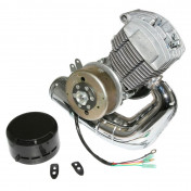 COMPLETE ENGINE FOR MBK 88 AV7 (GENUINE TYPE, ELECTRONIC IGNITION, WITH EXHAUST) -SELECTION P2R-