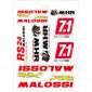 AUTOCOLLANT/STICKER MALOSSI ASSORTI (24,5x35cm)