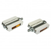 PEDAL FOR MOPED UNIVERSAL WHITE (PAIR)