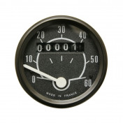 SPEEDOMETER FOR MOPED (ROUND SHAPED) 60KM/H Ø48mm - BLACK+MOUNTING SUPPORT