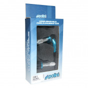 CLUTCH/BRAKE LEVER GUARDS POLINI GP -ALUMINIUM+NYLON - BLUE- Ø18-20mm - (PAIR) (341.0034)