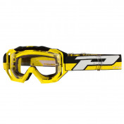 MASQUE/LUNETTES CROSS PROGRIP 3200 LS VENOM JAUNE ECRAN TRANSPARENT LIGHT SENSITIVE ANTI-RAYURES/ANTI U.V./ANTI-BUEE (HOMOLOGUE CE-EN-N° AC-96025 REV.2)