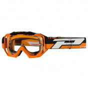 MASQUE/LUNETTES CROSS PROGRIP 3200 LS VENOM ORANGE ECRAN TRANSPARENT LIGHT SENSITIVE ANTI-RAYURES/ANTI U.V./ANTI-BUEE (HOMOLOGUE CE-EN-N° AC-96025 REV.2)