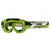 MASQUE/LUNETTES CROSS PROGRIP 3200 LS VENOM VERT ECRAN TRANSPARENT LIGHT SENSITIVE ANTI-RAYURES/ANTI U.V./ANTI-BUEE (HOMOLOGUE CE-EN-N° AC-96025 REV.2)