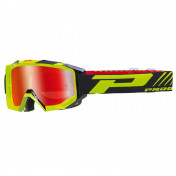 MOTOCROSS GOGGLES PROGRIP 3200 FL VENOM YELLOW FLUO/BLACK- MULTILAYERED MIRRORED LENS ANTI-SCRATCH/U.V.PROECTION/ANTI-FOG (APPROVED CE-EN-N° AC-96025 REV.2)
