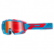MOTOCROSS GOGGLES PROGRIP 3200 FL VENOM BLUE/RED MULTILAYERED MIRRORED LENS- ANTI-SCRATCH/U.V.PROECTION/ANTI-FOG (APPROVED CE-EN-N° AC-96025 REV.2)