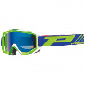 MOTOCROSS GOGGLES PROGRIP 3200 FL VENOM GREEN/WHITE - MULTILAYERED MIRRORED LENS ANTI-SCRATCH/U.V.PROECTION/ANTI-FOG (APPROVED CE-EN-N° AC-96025 REV.2)