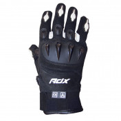GLOVES- ADX SPRING/SUMMER MIAMI BLACK/WHITE T 9 (M) (APPROVED EN 13594:2015)