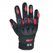 GLOVES- ADX SPRING/SUMMER MIAMI BLACK/RED T 9 (M) (APPROVED EN 13594:2015)