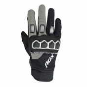 GLOVES- ADX CROSS TOWN BLACK/SILVER T11 (XL) (APPROVED EN 13594:2015)
