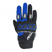 GLOVES- ADX CROSS TOWN BLACK/BLUE YAMAHA T11 (XL) (APPROVED EN 13594:2015)