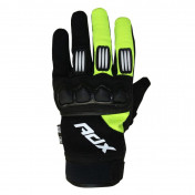 GLOVES- ADX CROSS TOWN BLACK/YELLOW FLUO T 7 (XS) FOR CHILD (APPROVED EN 13594:2015)