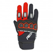 GLOVES- ADX CROSS TOWN BLACK/RED T 7 (XS) FOR CHILD (APPROVED EN 13594:2015)