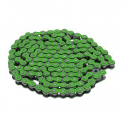 CHAIN FOR MOTORBIKE VOCA 420 REINFORCED - GREEN 136 LINKS