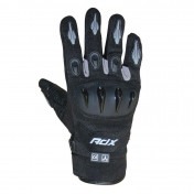 GLOVES- ADX SPRING/SUMMER MIAMI BLACK/GREY T11 (XL) (APPROVED EN 13594:2015)