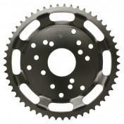 REAR CHAIN SPROCKET FOR 50cc MOTORBIKE DERBI 50 SENDA SM CLASSIC 1997->2003 420 53 TEETH -STEEL- (BORE 53 mm -WIDTH 14 mm) -SELECTION P2R-