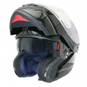 HELMET-FLIP-UP MT ATOM SV (DOUBLE VISORS) SINGLE BLACK GLOSSY L