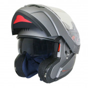 HELMET-FLIP-UP MT ATOM SV (DOUBLE VISORS) SINGLE TITANIUM MATT XS
