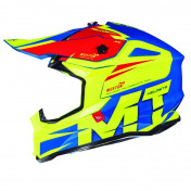 HELMET-CROSS ENDURO MT FALCON WESTON (DOUBLE-D RING) YELLOW FLUO GLOSSY S (DOUBLE-D RING)