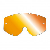 LENS FOR MOTOCROSS GOGGLES PROGRIP 3249 ORANGE MULTILAYERED MIRRORED - NO FOG/ANTI SCRATCH/ANTI-U.V.