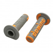 REVETEMENT POIGNEE DOMINO OFF ROAD A360 GRIS/ORANGE (120 mm) (PAIRE) -DOMINO ORIGINE-