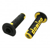 REVETEMENT POIGNEE DOMINO OFF ROAD A360 NOIR/JAUNE (120 mm) (PAIRE) -DOMINO ORIGINE-
