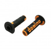 REVETEMENT POIGNEE DOMINO OFF ROAD A360 NOIR/ORANGE (120 mm) (PAIRE) -DOMINO ORIGINE-