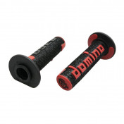 REVETEMENT POIGNEE DOMINO OFF ROAD A360 NOIR/ROUGE (120 mm) (PAIRE) -DOMINO ORIGINE-