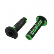 REVETEMENT POIGNEE DOMINO OFF ROAD A360 NOIR/VERT (120 mm) (PAIRE) -DOMINO ORIGINE-