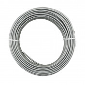 CABLE SHEATH - REPLAY -Ø 5MM FLAT SECTION WIRE - SILVER/CHROME (25M)