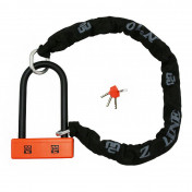 MOTORCYCLE ANTITHEFT- CHAIN LOCK MAGGI WITH U LOCK 200x95mm (SRA APPROVED) +LASSO CHAIN L1.10M WITH PROTECTION TUBE