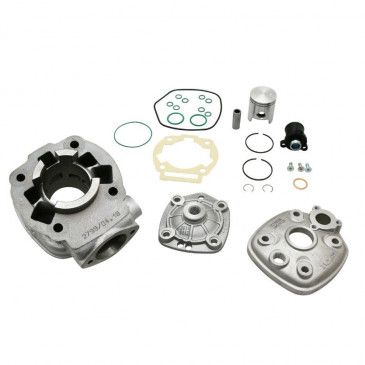 COMPLETE CYLINDER KIT FOR 50cc MOTORBIKE TOP PERF CAST IRON FOR DERBI 50 SENDA 2006>, GPR 2006>/GILERA 50 SMT 2006>, RCR 2006> (ENGINE PIAGGIO EURO 3 - EBS050)