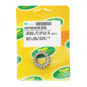 GEARBOX SPROCKET FOR MINARELLI 50 AM6 16 TEETH 2e PRIMARY SHAFT - SERIE 2 -TOP PERF AS ORIGINAL-