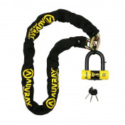 MOTORCYCLE ANTITHEFT- CHAIN LOCK AUVRAY XTREM 1.40 M - Ø 13.5 mm + U LOCK XTREM MINI (FULL SRA APPROVED)