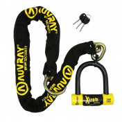 MOTORCYCLE ANTITHEFT- CHAIN LOCK AUVRAY XTREM 1.20 M LASSO - Ø 13.5 mm + U LOCK XTREM MEDIUM (FULL SRA APPROVED)